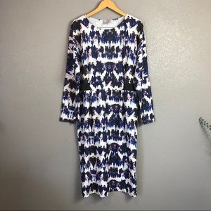 ASOS midi watercolor print dress 16